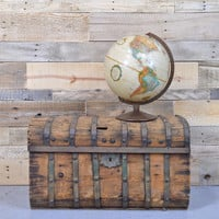 Early 1980s World Globe, Replogle 12 inch World Classic Series, Light Tan Map and Brown Metal Base, Perfect Decor for Kids Room or Office