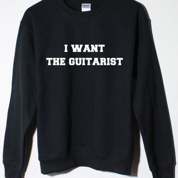 5 Seconds of Summer Michael Clifford 5SOS I Want the Guitarist Black Fleece Sweatshirt
