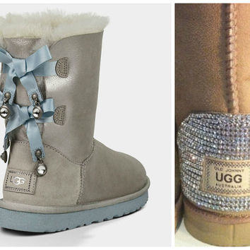 Swarovski Crystal Embellished Limited Edition Bailey Bow Uggs - Winter / Holiday Bling UGGs 2013