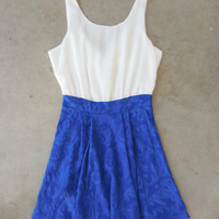 Bow Back Dress in Royal [6721] - $36.00 : Feminine, Bohemian, & Vintage Inspired Clothing at Affordable Prices, deloom