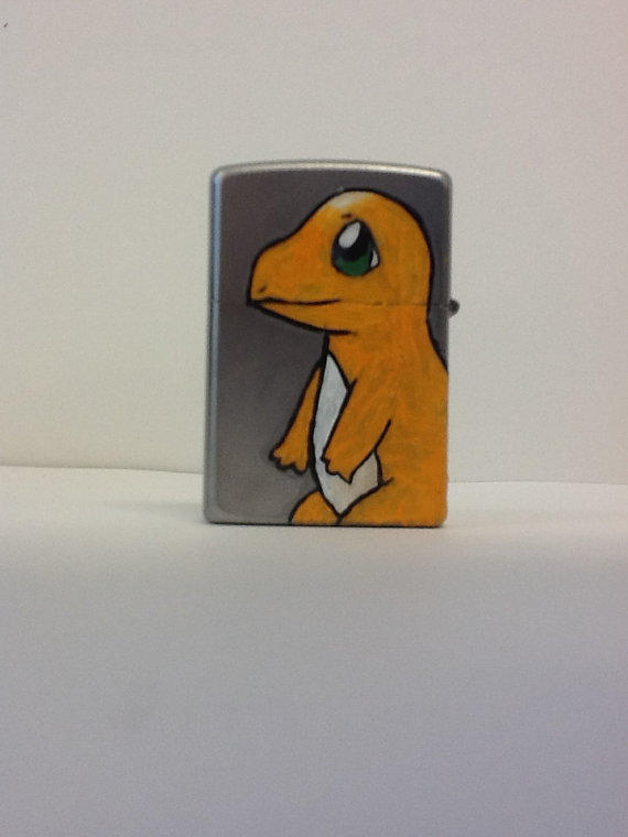 Hand Painted Zippo Lighter Pokemon From Tanya S Oh Hey