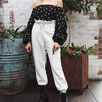 Women's Fashion Summer Hot Sale High Waist Casual Pants [524151717903]