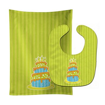 Nautical Bithday Cake Baby Bib & Burp Cloth BB8916STBU