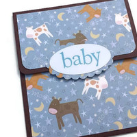 New Baby Gift Card Holder, Baby Boy Gift Card Holder, Baby Shower Gift Card Holder