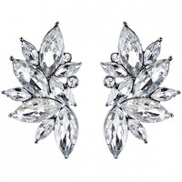 Rhinestone Faux Crystal Statement Earrings