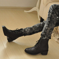 Beautiful Sculptured Ladies Martin Boots Black : Wholesaleclothing4u.com