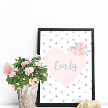 Personalized baby gifts, Custom name art, PRINTABLE poster, Baby name wall art, Baby personalized gifts, Unique personalized gifts for girls