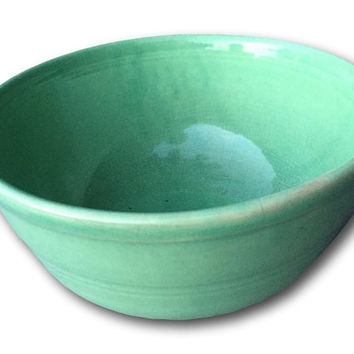 Vintage Green Old American Pott Crock ry Baking Serving Mixing Bowl Sevilla