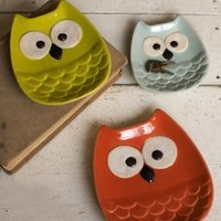 OWL Plates - Set of Three