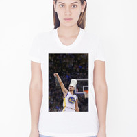 Womens Custom Scoop Neck Tee - Chef Curry