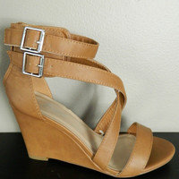 Buckle Wedge Sandal
