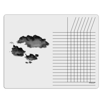 Inverted Puffy Clouds Chore List Grid Dry Erase Board