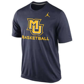 Marquette Golden Eagles Nike Basketball Practice Dri-FIT T-Shirt – Navy Blue