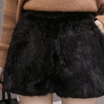 faux fur shorts tg