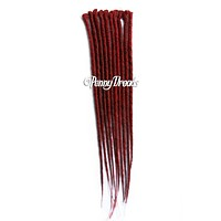 Red Single Ended Synthetic Dreadlock Extensions  20""