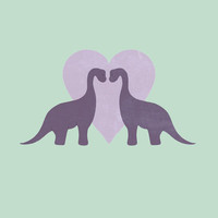 Prehistoric Love - sans text Art Print by Perdita | Society6