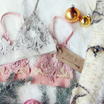 Sleepy Lace Bra in Dove