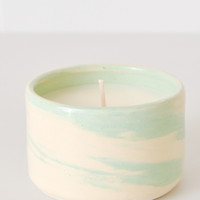Swirl Ceramic Soy Candle - Palm