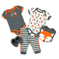 Baby Boy (3-9M) Fox And Raccoon 5pc. Set | Boscov's