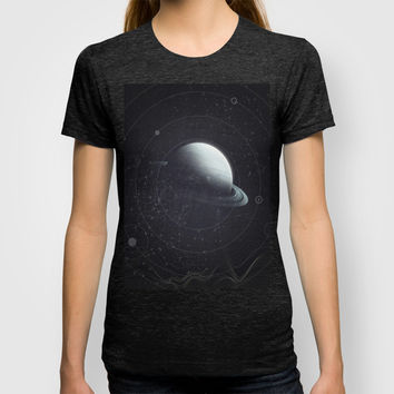 Space Sound Waves T-shirt by DuckyB (Brandi)