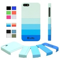 "KHOMO ® Blue Gradient Slider ""Dock Friendly"" Case with Rubberized texture for Apple iPhone 5 / 5s"