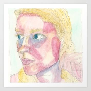 Butterfly: Malar Rash Art Print by Alayna H.