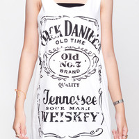 Jack Daniels Shirt Sour Mash Tennessee Whiskey Top Women Tank Top White Shirt Tunic Top Vest Sleeveless Women T-Shirt Size S M