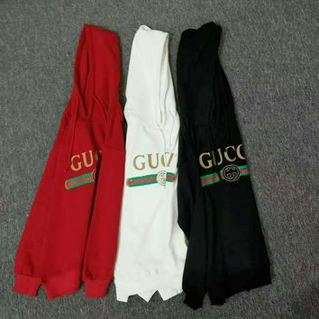 GUCCI Women Man Fashion Print Long Sleeve Top Sweater Pullover Hoodie H-spring-CLFSGCJDZ