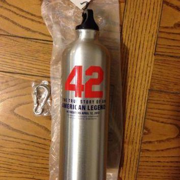 """""""42"""" STAINLESS STEEL 24OZ WATER BOTTLE WITH BELT OR BACKPACK CLIP"""
