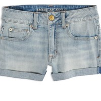 AEO Factory Women's Hi-rise Shortie (Light Bleach)