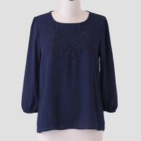Till Tomorrow Embroidered Blouse