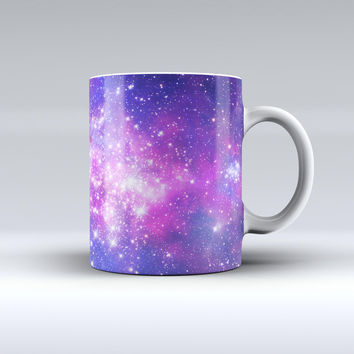 The Purple & Pink Space ink-Fuzed Ceramic Coffee Mug