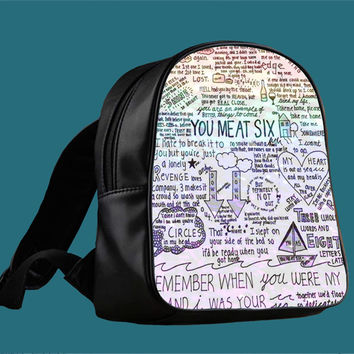You Me At Six Quote for Backpack / Custom Bag / School Bag / Children Bag / Custom School Bag *