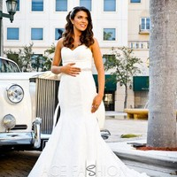 Sweetheart Neckline Mermaid Style All Over Lace Wedding Dress