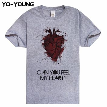 Bring Me The Horizon Can You Feel My Heart Men T Shirts Digital Printed 100% Combed Cotton 180gsm Top Tees Homme Customized