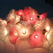 LOVE PINK TONE FLOWER STRING FLORAL,PATIO,FAIRY,DECOR,TEEN ROOM,WEDDING LIGHTS