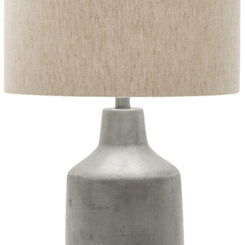 Foreman Rustic Table Lamp Painted Gray