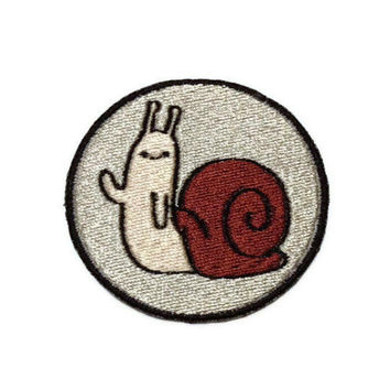Iron on Adventure Time Hidden Snail embroidered patch