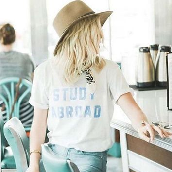 Mother Denim Brand Study Abroad Tee