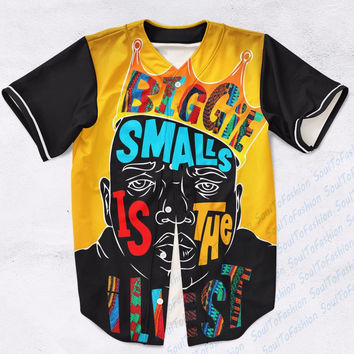 Real USA Size Custom made Fashion 3D Sublimation Print Biggie Smalls is the Illest - Notorious BIG Baseball Jersey Plus Size