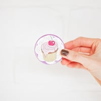 Cherry Cupcake Pocket Mirror