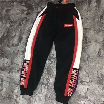 Supreme Fashion Casual Pants Print Trousers Sweatpants For Men Red Stripe G -CN-CFPFGYS