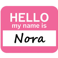 Nora Hello My Name Is Mouse Pad