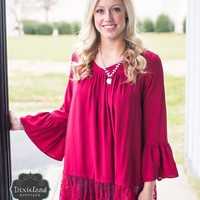 Merlot Lace Blouse
