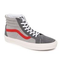 Vans SK8 Hi Reissue Suede Shoes - Mens Shoes - Grey/Red