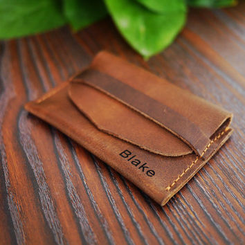 Custom Leather Wallet/Slim coin Wallet /Simple Coin Wallet /Personalized Wallet/Handmade Wallet / Minimalist Wwallet/Best Gift