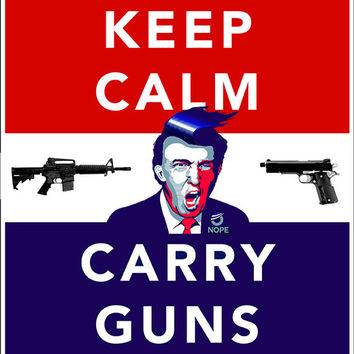 """Keep Calm... Carry Guns"" -Bumper Sticker"