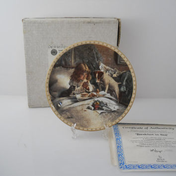 Royal Doulton A Victorian Childhood Breakfast In Bed Plate w/COA & Box 1992