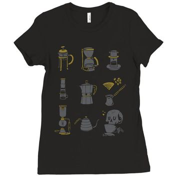 coffee equipment Ladies Fitted T-Shirt
