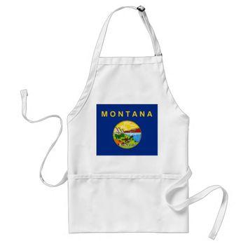Apron with Flag of Montana, U.S.A.